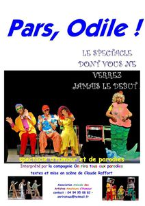 affiche Pars, Odile !