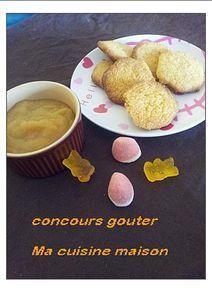 compote pomme rhubarbe et palet breton