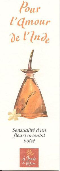 mp parfum amour de l'Inde