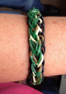 Bracelet Rainbow loom Raindrops
