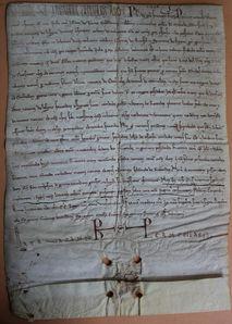 Charte de Philippe Auguste pour Saint Médard de Soissons 1