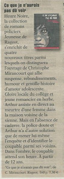 articles du 12 avril 2013