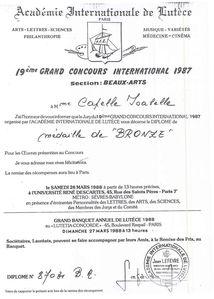 Académie Internationale de Lutèce médaille de bronze 198