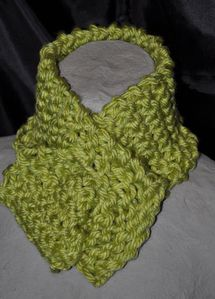 Chartreuse neck warmer