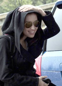 Christian Serratos Catching Flight Vancouver Airport