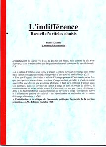 L'indifférence