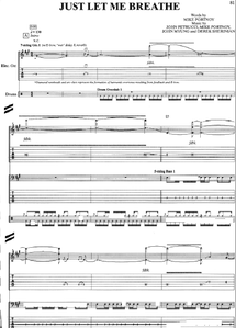 Just le me breath partition music sheet Dream Theater