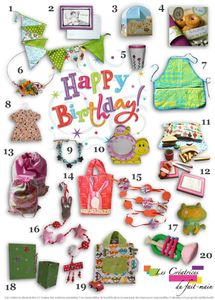 page shopping anniversaire