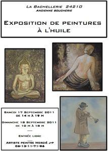 Affiche Expo peintures Journées du Patrimoine 2011