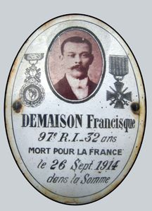 DEMAISON Francisque 1914 ovale