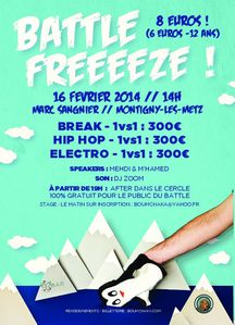 Battle electro hip-hop Freeeeze ! #3 16 février 2014 Monti