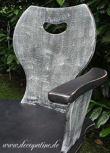Sthul Shabby Grau Vintage Armlehnsessel Decopatine2