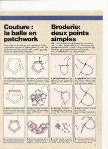 10 couture la balle en patchwork pentagone