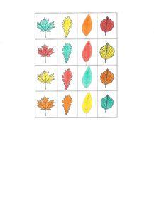Tableau à double entrée - L'automne 1 - Les images à dé