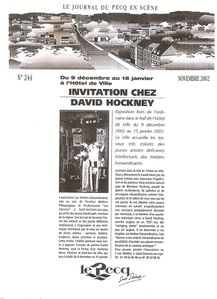 Invitation chez David Hockney
