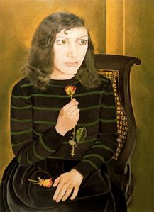 1947 Lucian Freud Fille aux roses British Council