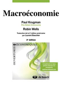 « Macroéconomie » Ed.2 par Paul KRUGMAN et Robin WELLS