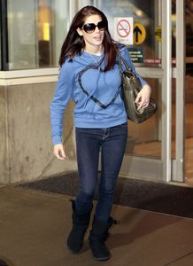 Ashley Greene arriving @ Vancity airport
