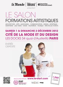 Le start salon des formations artistiques le studio for Salon formation artistique paris