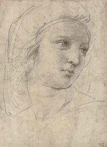 Tête d'une muse, Raphaël (1483-1520)