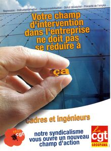 Affiche Un nouveau champ d'intervention Ugict CGT