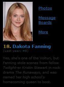 IMDb Top 25 StarMeter 2010 - Dakota Fanning