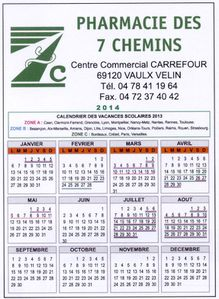magnet calendrier 2015 pharmacie parapharmacie