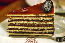 220px-Dobos_cake_-Gerbeaud_Confectionery_Budapest_Hungary-.jpg