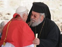 Benedict XVI and Cypriot Archbishop Chrysostomos, Church of