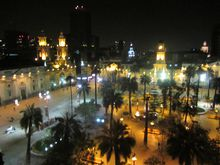 2012090210 Santiago Plaza de Armas by night