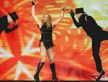 Madonna gets into the groove in Athens