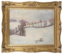 guillaumin saint-sauves sous la neige 1900 framed new i