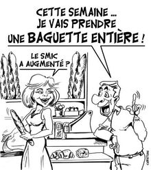 smic et baguette 2012