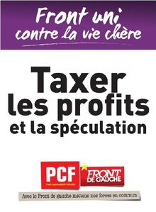 Campagne contre la vie chre - affiche PCF 2011