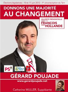 affiche Gerard Poujade Legislatives Tarn