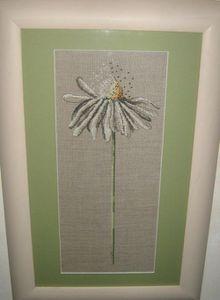 Flavia V.margherita punto croce su lino
