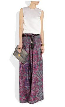 paisley trouser yves saint laurent