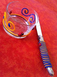 verrine et couteau