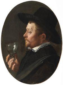Salomon de Bray Homme de profil tenant un roemer