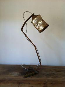 lampe, récup, conserve, atelier bois d'âme