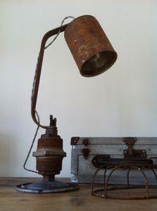 lampe, récup, rouille, conserve