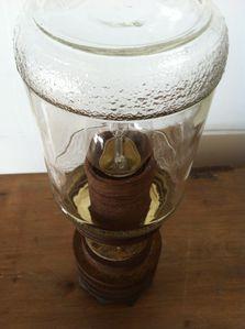 lampe à poser, détournement d'objet, récup, atelier bois