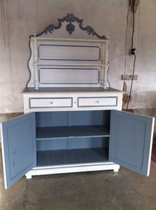 Buffet saint hubert patiné relooking buffet