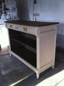 Buffet console patiné :