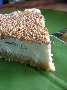 cheesecake au chèvre & aux herbes