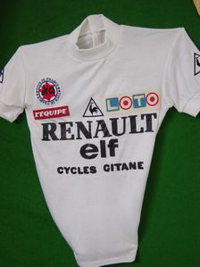 R maillot blanc renault-elf 1982