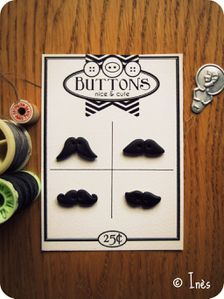 Scrap Inès Bouttons Moustaches Fimo Polymer lay M-copie-3