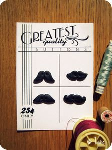 Scrap Inès Bouttons Moustaches Fimo Polymer lay Mustache B