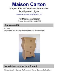 kits de meubles en carton le blog de maison carton. Black Bedroom Furniture Sets. Home Design Ideas
