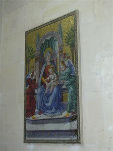 Château d'Écouen- mosaïque dans la chapelle